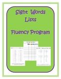 Sight Words Lists Fluency Program