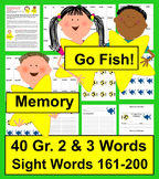 "Sight Word Games ""Go Fish"" & ""Memory"" Sets 9 & 10"