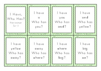 Sight Words Loop Cards