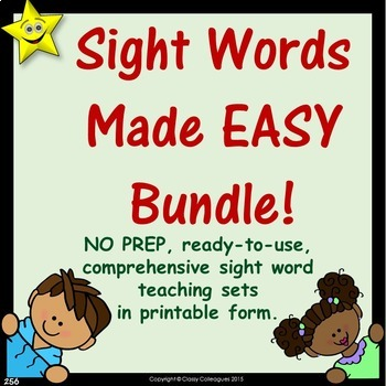 Sight Words, No-Prep Comprehensive Activities, 22-Set Bundle