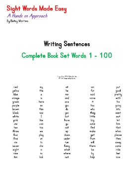Sight Words Made Easy Complete Writing Sentences Set