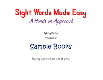 Sight Words Made Easy Sample