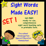 Sight Words, No-Prep Comprehensive Activities, Set 1