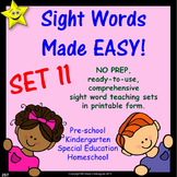 Sight Words, No-Prep Comprehensive Activities, Set 11