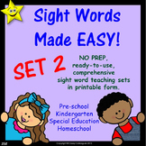 Sight Words, No-Prep Comprehensive Activities, Set 2