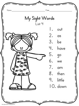 Sight Words, No-Prep Comprehensive Activities, Set 4