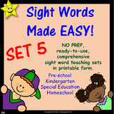 Sight Words, No-Prep Comprehensive Activities, Set 5