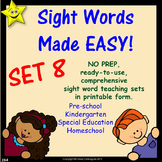 Sight Words, No-Prep Comprehensive Activities, Set 8