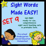 Sight Words, No-Prep Comprehensive Activities, Set 9
