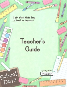 Sight Words Made Easy Teachers Guide