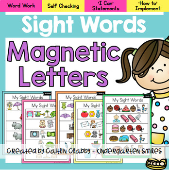 Sight Words - Magnetic Letters