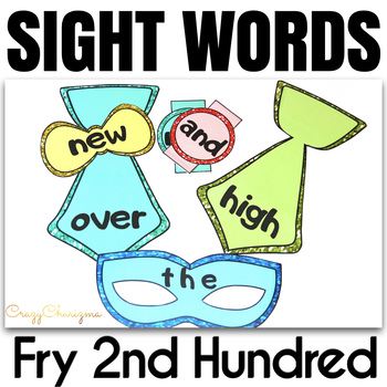 Sight Word Activities Masquerade FRY's 2nd hundred
