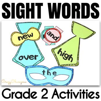 Sight Word Activities Masquerade Grade 2