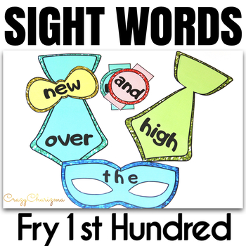 Sight Word Activities Masquerade FRY's 1st hundred
