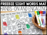 Sight Words Mat DISTANCE LEARNING  | FREEBIE DOWNLOAD |