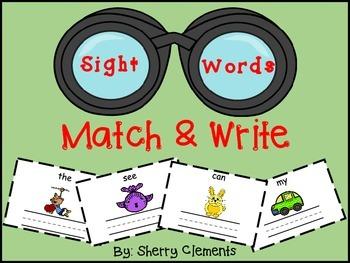 Sight Words (Match & Write)