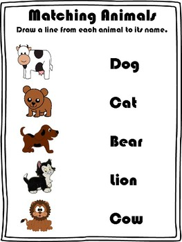 Sight Words: Matching Booklet