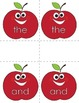 Apple Theme Sight Words Matching Game
