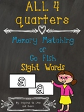 Sight Words Memory Matching OR Go Fish Game