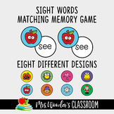 Sight Words Matching Memory Game, First Sight Words, Literacy Game, Sight Words