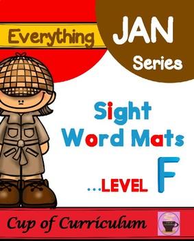 Sight Words Mats Level F