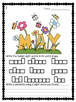 Sight Words {May Edition}