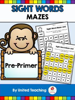 Sight Words Mazes Pre Primer Edition
