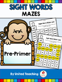 Sight Words Mazes Pre Primer Edition