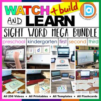 RTI   Kindergarten - 3rd Grade Sight Word Fluency MEGA Bundle
