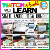 Watch, Build & Learn Sight Words MEGA BUNDLE │ Preschool,