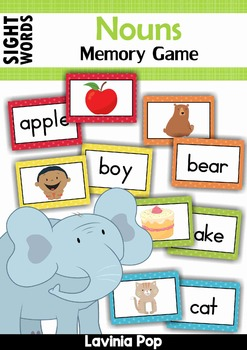 Sight Words Memory Game (Dolch Nouns)