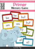 Sight Word Memory Game FREE (Primer)