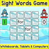 Penguins Sight Words Memory Game for Whiteboards, Computer