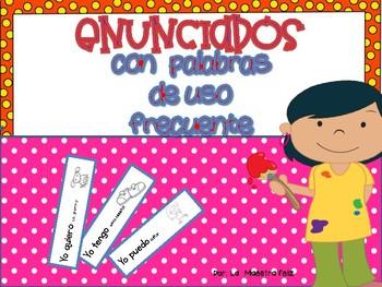 Sight Words Mini Books in Spanish/ Mini libritos Enunciado
