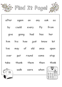 Sight Words Missing Letters (1st Grade)