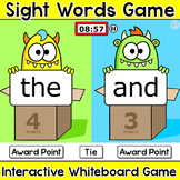 Sight Words Game - Monster Theme Team Challenge SMART Board Activity