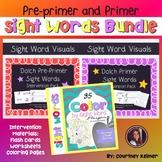 Sight Words Multi-Sensory Intervention Bundle Dolch Primer & Pre-Primer