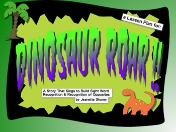 Dinosaur ROAR! PowerPoint - Sight Words, Music, Vocabulary