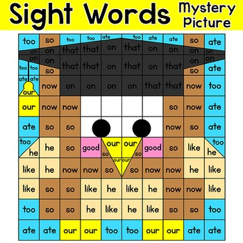 End of Year Activities Color by Sight Words - Owl Graduate