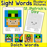 St. Patrick's Day Color by Sight Words Mystery Pictures: Leprechauns