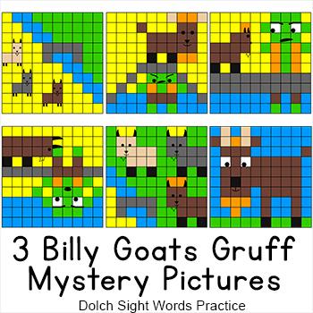 Three Billy Goats Gruff Sight Words Hidden Pictures