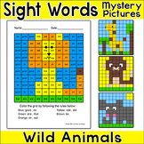 Wild Animals Sight Words Hidden Pictures: Lion, Giraffe, M