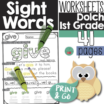 Sight Words First Grade