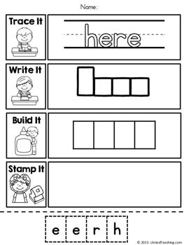 Sight Words No Prep Worksheets - Pre Primer Sight Words