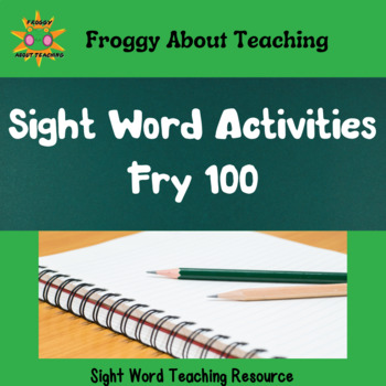 Fry's First 100 Sight Word Packet