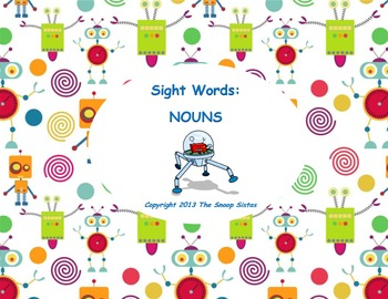 Sight Words: Nouns