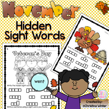 Sight Words {November Edition}