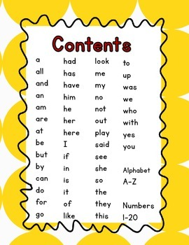 Sight Words, Numbers, and Letters Activities