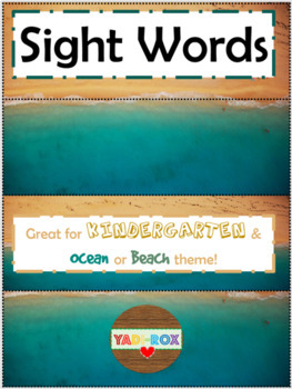 ALL Kindergarten High Frequency Words (Sight Words) Posters – Ocean