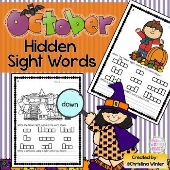 Sight Words {October Edition}